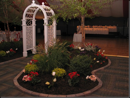 Landscaped Wedding Reception
